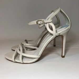 TOPSHOP White Leather Strappy Sandals